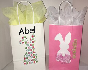 Personalizable Easter goodie Bag Set of 8