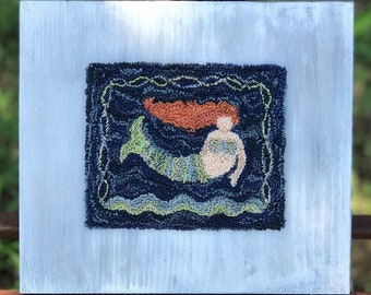A Little Mermaid Punchneedle Digital Pattern (Punch Needle)