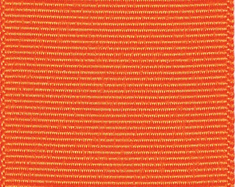 "3"" Orange Polyester GROSGRAIN RIBBON - Select Amount of Yards - Ribbon for Hair Bows - Made in USA"