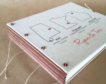 State Love Wedding Photo Guest Book or Album - Personalized and Custom Made for You