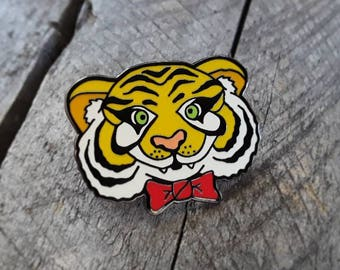 Hap-E-Co Tiger Enamel Pin