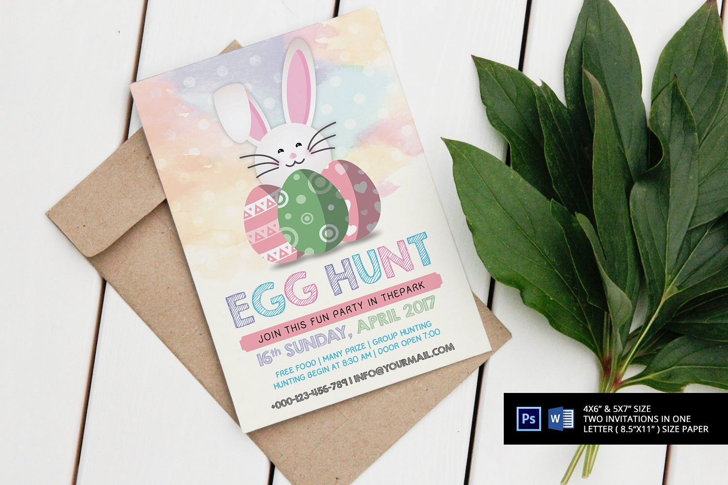 Aquarell Ostern Party Einladung Vorlage Instant Download