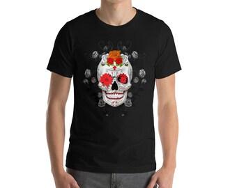 cinco de mayo shirt Red flower Skull
