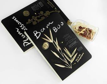 Plant Theme Minimalist Blank Notebook, Travellers Notebook,Journal,Diary,Journal Insert,Planner Insert,Bamboo,Plant,Gift,PandaQ