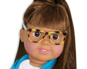 """3"""" Tortoise Shell Doll Glasses"""