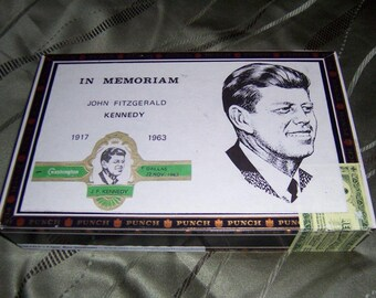 John F. Kennedy Cigar Box