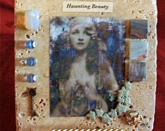 Handmade Tile Collage -  Art Haunting Beauty