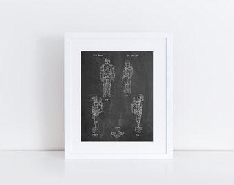 Star Wars Boba Fett 4 Image Patent Poster, Starwars Art, Star Wars Character, Star Wars Bounty Hunter, PP0145