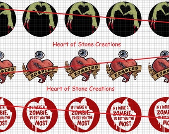 Zombie Love Bottle Cap Images