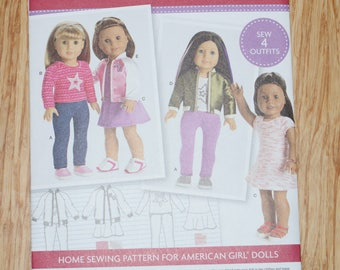 New Simplicity American Girl 18' doll Clothes Pattern 8484 OS