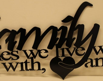 Family Saying Metal Wall Art Home Decor