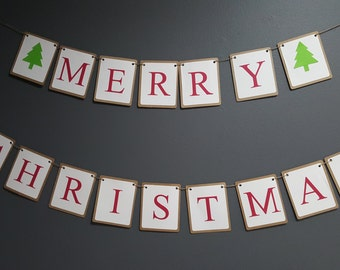 Merry Christmas Tree banner