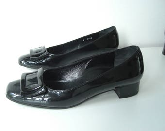 90s/60 's patent leather loafers/made in Italy/Alexandria/size uk 4