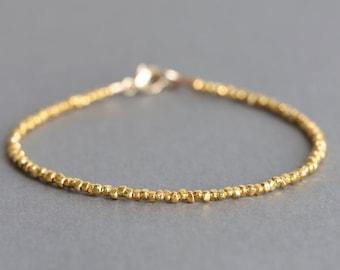 Simple Gold Bracelet Karen Hill Gold Vermeil Style Bracelet Beaded Bracelet