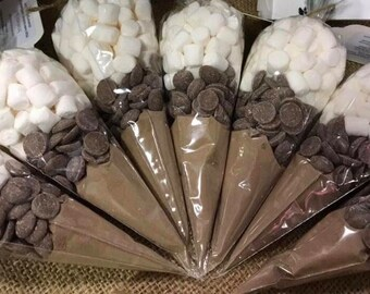 Luxury hot chocolate cone