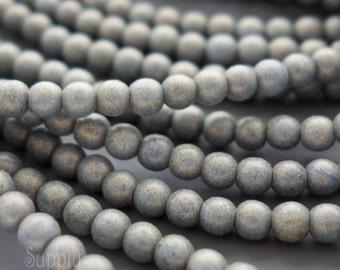 Pacifica Poppy Seed 3mm Czech Glass Druk Beads, 3460, Pacifica Taupe 3mm Round Beads, 3mm Pacifica Gray Druk Beads, 100 Beads