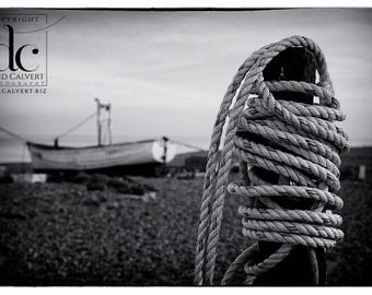 Rope on Aldeburgh Beach. Fine art Giclee Print