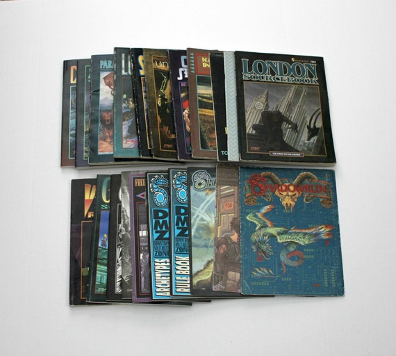 Vintage Lot 21 Shadowrun RPG Books Sourcebooks Gamemaster Screens s