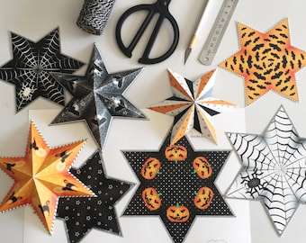Printable halloween decoration, Halloween printable decor, Printable halloween party decor, DIY halloween decor, Halloween party decorations