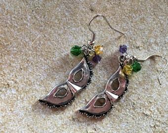 Mardi Gras Jewelry, Mardi Gras Earrings, Earrings