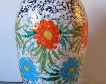 Vintage Large Made in Italy Lava Glaze Ceramic Vase