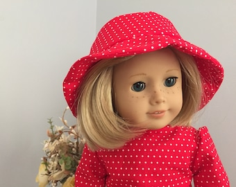 18 inch Doll Clothes - Adorable Red and White Out on the Town Outfit