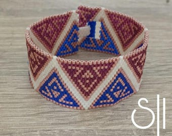 Purple and blue miyuki bracelet