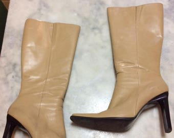 Leather Knee Hi Boots