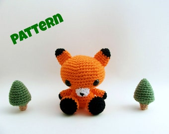 Amigurumi Fox Pattern, Crochet Fox Pattern, Amigurumi Easter Pattern, Crochet Easter Patttern, Crochet Animal Pattern, Amigurumi Patterns