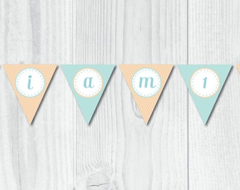Pat The Bunny First Birthday HIgh Chair Banner / Bunny Theme Party / Printable