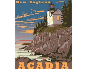 ACADIA NP 1S- Handmade Leather Journal / Sketchbook - Travel Art
