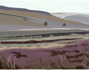 Under Stanage .. limited edition giclee print, mounted