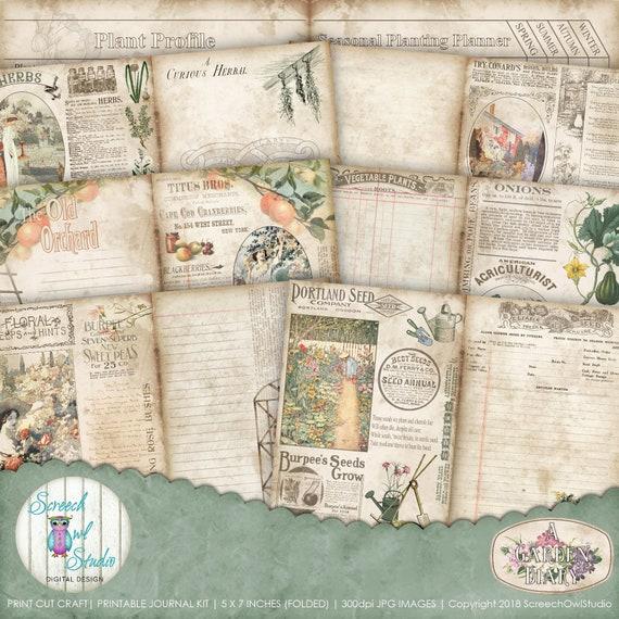 photo relating to Printable Garden Journal known as ScreechOwlStudio: PRINTABLE GARDENING Magazine - A Yard DIARY