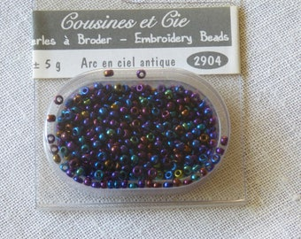 Beads embroidery cousins and companies 2904 antique Rainbow collar