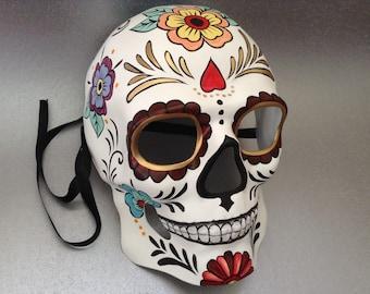 Halloween Skeleton mask for Dia De Los Muertos Painted Sugar skull Mask
