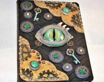 Handpainted Steampunk Dragon Eye Journal