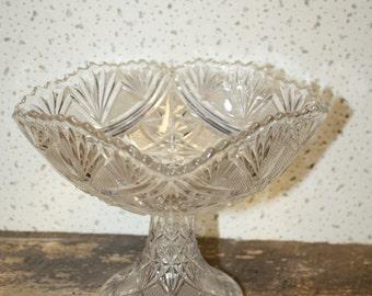 Pressed Glass Compote