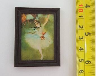 Degas framed painting Ballet - L'Etoile - for 1:12 dollhouse