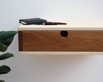 Schwimmende Nachttisch Modern Minimalistisch Mitte Jahrhundert Moderne  Möbel Schublade Nachttisch Massiv Holz Wand Hung Console Tisch Lagerung  Eiche