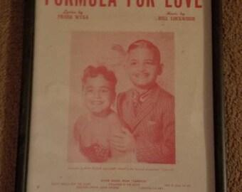 Formula For Love ,sheer music cover,Framed 8x12