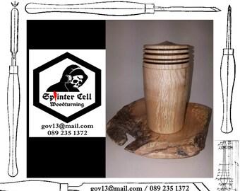 Quilted Maple Driftwood Platter & Beech Lidded Vessel