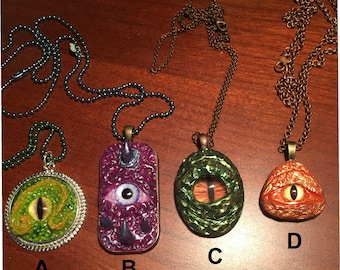 Dragon Eye Necklaces-Dragon eye pendant, one of a kind Dragon necklaces
