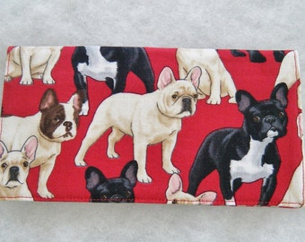 Checkbook Cover - Frenchie french bulldog