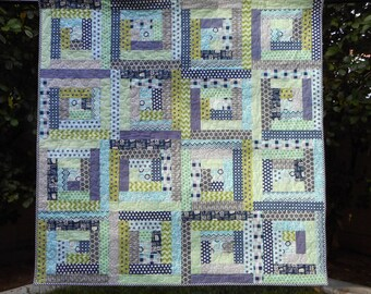 "Blue and Green Baby Quilt/Lap Quilt--56"" x 56"""