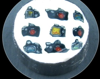 Camera Cluster Glass Murrine Boro Cane 7 grams - 6B