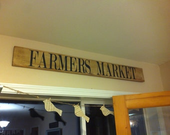 FARMERS MARKET Sign Large Farmstyle