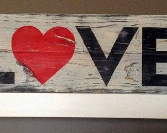 Valentines Gift, Rustic Valentine Decor, Rustic Wooden LOVE Sign, Wedding gift, handmade sign