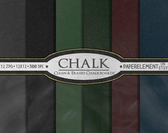 Digital Chalkboard Digital Paper: Chalkboard Scrapbook Paper, Printable Chalkboard, Digital Chalkboard Paper, Chalk Board Paper Download