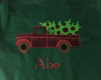 Vinyl Boys Christmas Shirt Personalized