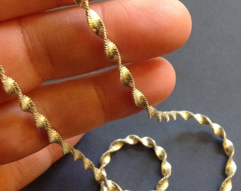 Twisted Herringbone Sterling 925 Silver Chain 18 inches Italy